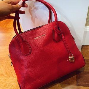 Michael Kors Red Satchel Bag